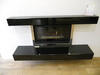 Double Box Edge Premium Black Hearth and Mantle