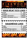 ECO LOGS AND HARDWOOD PRICING