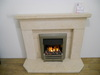 The Da Vinchi Fireplace in Dorato Limestone